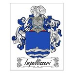 Impellizzeri Family Crest Small Poster