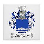 Impellizzeri Family Crest Tile Coaster