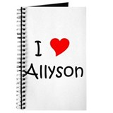Funny Allyson Journal