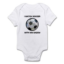 Watch Soccer With Daddy Onesie