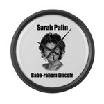 Babe-raham Lincoln Large Wall Clock