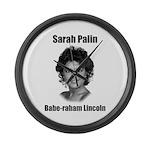 Babe-raham Lincoln Large Wall Clock