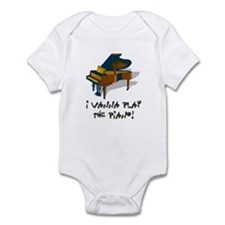 Wanna Play Piano Infant Bodysuit