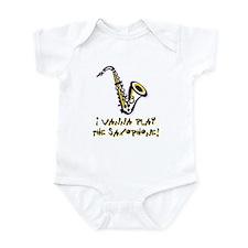 Wanna Play Saxophone Infant Bodysuit