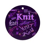 Knit Purple Ornament (Round)