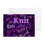 Knit Purple Greeting Card