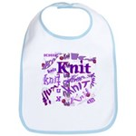 Knit Purple Bib