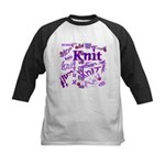Knit Purple Kids Baseball Jersey