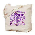 Knit Purple Tote Bag