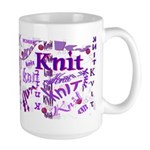 Knit Purple Large Mug