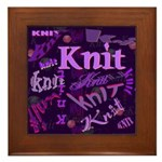 Knit Purple Framed Tile