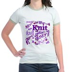 Knit Purple Jr. Ringer T-Shirt