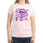 Knit Purple Women's Light T-Shirt