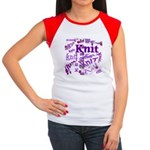 Knit Purple Women's Cap Sleeve T-Shirt