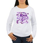 Knit Purple Women's Long Sleeve T-Shirt