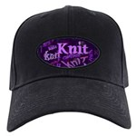 Knit Purple Black Cap