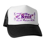 Knit Purple Trucker Hat
