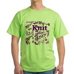 Knit Purple Green T-Shirt