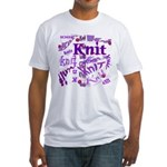 Knit Purple Fitted T-Shirt