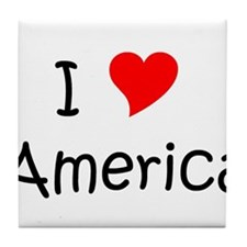 Unique America heart Tile Coaster