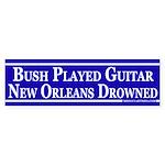 Bush Played Guitar (bumper sticker)