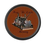 Keep The Lights Burning Large Wall Clock