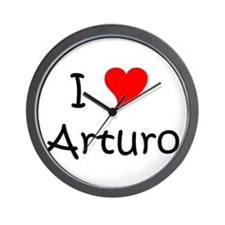 Cute I heart arturo Wall Clock