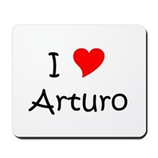 Cute I heart arturo Mousepad