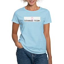 DEMMAS TEAM pink ribbon T-Shirt