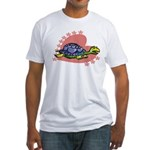 Heart Turtle Fitted T-Shirt
