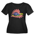 Heart Turtle Women's Plus Size Scoop Neck Dark T-S
