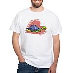 Heart Turtle White T-Shirt