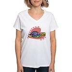 Heart Turtle Women's V-Neck T-Shirt