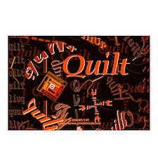 Quilt Pumpkin Postcards (Package of 8)