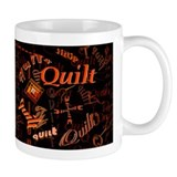 Quilt Pumpkin Dark Small Mug