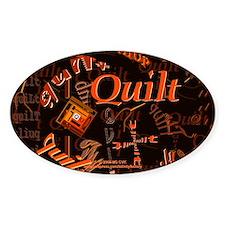 Quilt Pumpkin Oval Decal