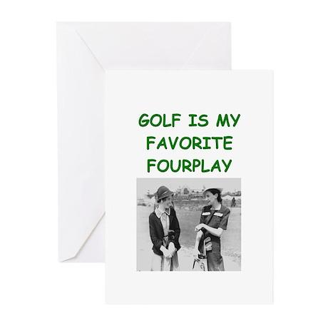 golf joke Greeting Cards (Pk of 20)