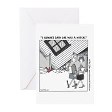 """""""...Was a Witch"""" Blank Greeting Cards (pkg. of 6)"""