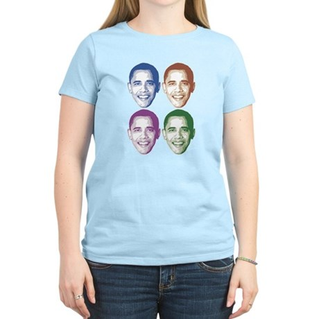 Smiling Faces OBAMA Women's Light T-Shirt