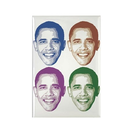 Smiling Faces OBAMA Rectangle Magnet