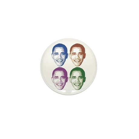 Smiling Faces OBAMA Mini Button