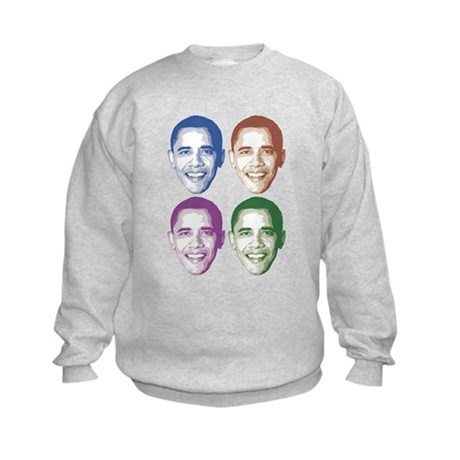 Smiling Faces OBAMA Kids Sweatshirt