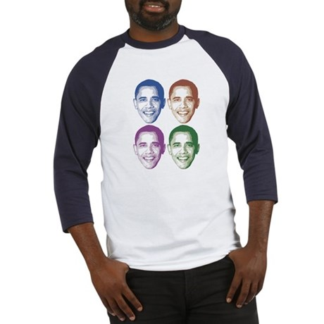 Smiling Faces OBAMA Baseball Jersey