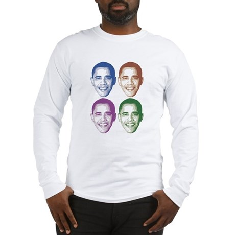 Smiling Faces OBAMA Long Sleeve T-Shirt
