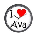 Cute Ava Wall Clock