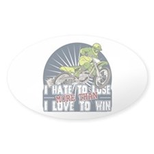 Hate to Lose Motocross Oval Decal