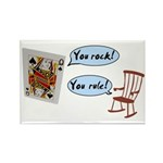 YOU ROCK! YOU RULE! Rectangle Magnet (10 pack)