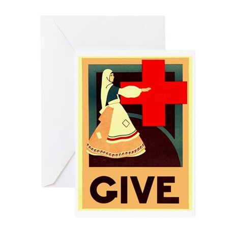 Vintage Red Cross Greeting Cards (Pk of 10)