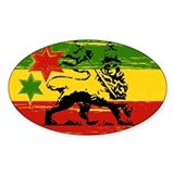 Rastagearshop Rasta Flag Lion Oval Decal