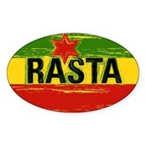 Rasta One Love Oval Decal